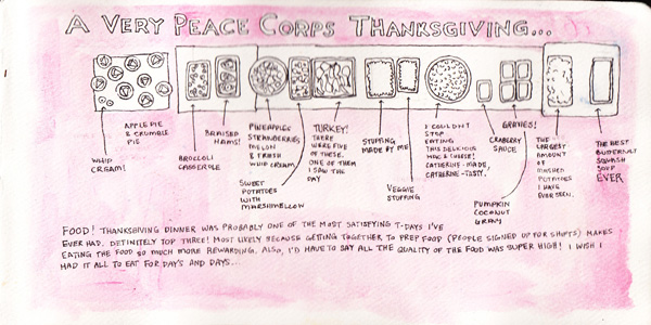 A Very Peace Corps Thanksgiving was one of the most delicious meals of my life. I wish I hadn't been sick all evening afterward, but all the excitement was too exhausting! What a fantastic day.
